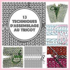 MES FAVORIS TRICOT-CROCHET: 13 techniques d'assemblage au tricot We believe tattooing could be a method that's been used since enough … Loom Knitting, Knitting Stitches, Knitting Patterns, Crochet Patterns, Crochet Granny, Diy Crochet, Tips & Tricks, Knitting Projects, Pullover