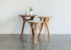 Lyssna Side Table and Senna Side Table/Stool | TIDE