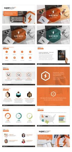 PowerPoint template for content marketing agency by smashingbug