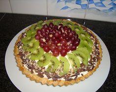 Recept voor Mascarponetaart met fruit. Meer originele recepten en bereidingswijze voor gebak vind je op gette.org.