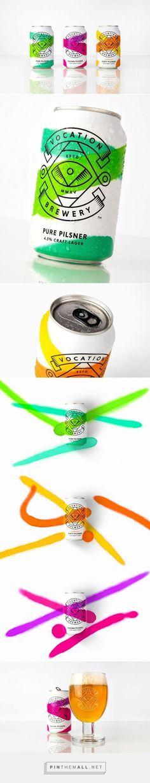 Vocation Brewery Craft Lager by Robot Food (Bottle Packaging) Cool Packaging, Beverage Packaging, Bottle Packaging, Print Packaging, Coffee Packaging, Web Design, Creative Design, Foodtrucks Ideas, Beer Label Design