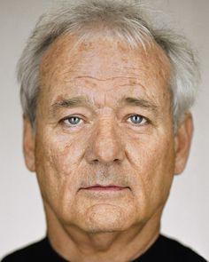 Bill Murray - Up Close & Personal -Celebrity Photography By Martin Schoeller Martin Schoeller, Jack Nicholson, George Clooney, Brad Pitt, Cinema Tv, I Love Cinema, Celebrity Faces, Celebrity Portraits, Clint Eastwood