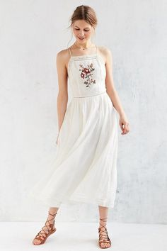 Kimchi Blue Needlepoint Apron Midi Dress - $119.00