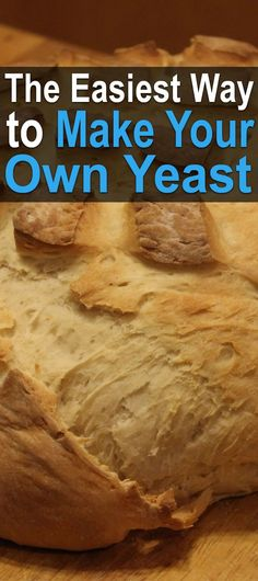 The Easiest Way to Make Your Own Yeast. Arguably the easiest way to make your own yeast is to grow a sourdough starter. All you have to do is capture wild yeast using flour and water. Healthy Cooking, Cooking Tips, Yeast Starter, Make Your Own, Make It Yourself, Survival Food, Homestead Survival, Survival Skills, Canning Recipes