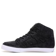 DC Shoes Men's Spartan High Top Skate Shoes (Black/Acid Wash) - 10.0 M