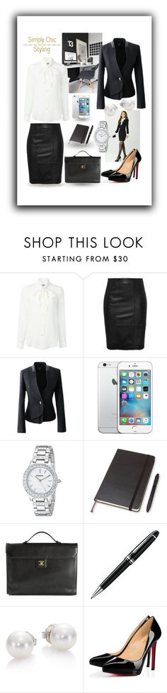 """Fashion tip 9"" by marianne-spiessens on Polyvore featuring Moschino, FOSSIL, Moleskine, Chanel, Montblanc, Mikimoto and Christian Louboutin"
