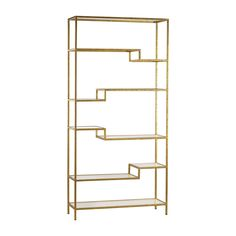 Zinc Door Etagere gold shelving display shelves with mirrored surfaces | Overstock.com