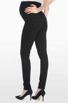 0d0b9ac3b6474 AMI SKINNY MATERNITY LEGGING IN LUXURY TOUCH TWILL Maternity Leggings,  Black Jeans, Pregnancy,