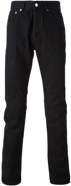 €363, Vaqueros Negros de Givenchy. De farfetch.com. Detalles: https://lookastic.com/men/shop_items/138792/redirect