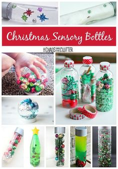 These Christmas sensory bottles are sure to provide hours of discovery. From magnet science to simple calm down bottles, you'll find it all here. Tap the link to check out fidgets and sensory toys! Baby Sensory, Sensory Activities, Infant Activities, Sensory Play, Sensory Bins, Sensory Table, Christmas Activities For Toddlers, Crafts For Kids, Holiday Activities