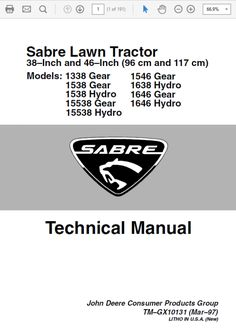 ef sabre manual