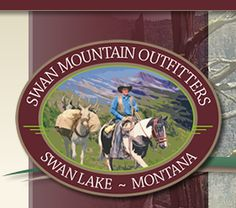 Cowboy up on a guided trail ride with Swan Mountain Outfitters. (Glacier National Park, Bob Marshall Wilderness, Swan Lake)