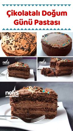 Çikolatalı Doğum Günü Pastası – Nefis Yemek Tarifleri – How to make a Chocolate Birthday Cake Recipe? Nutella, Pasta Recipes, Cake Recipes, Pasta Cake, Lemon Cream Cheese Frosting, Winter Desserts, Lemon Desserts, How To Make Chocolate, Chocolate Recipes