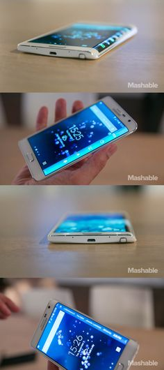 The Samsung Galaxy Edge brandishes a curved edge screen along the side of its main display, which can be used which can be used to show info from apps and display the news.