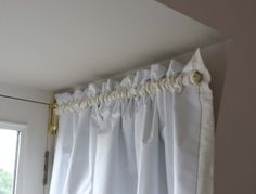 How to for curtains (software) for dormers Drop Cloth Curtains, Burlap Curtains, Green Curtains, Country Curtains, Floral Curtains, White Curtains, Curtains Behind Bed, Bay Window Curtains, Closet Curtains
