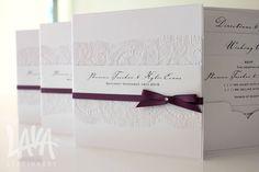 Chantilly #laceinvitation by www.lavastationery.com.au