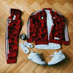 Outfit Grid is a styling inspiration for men in simple words it is a picture that consists of complete look ideas for men from bottom wear to upper wear and from accessories to footwear. Dope Outfits For Guys, Swag Outfits Men, Tomboy Outfits, Nike Outfits, Hype Clothing, Mens Clothing Styles, Addidas Shirts, Adidas Tracksuit Mens, Mens Adidas Outfit