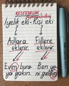 Learn Turkish Language, Language And Literature, Study Hard, School Notes, Study Notes, Study Motivation, Study Tips, Student, Teaching