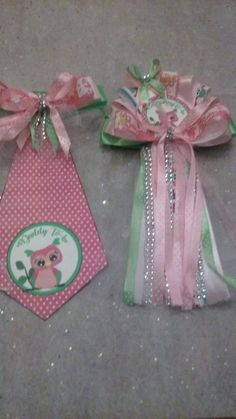 Baby shower owl  Mommy and Daddy Baby shower corsage and Tie   #handmade #BabyShower