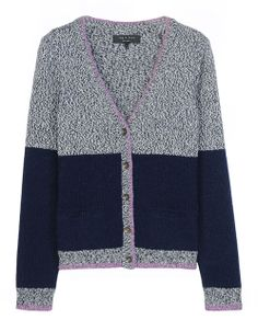 rag & bone Official Store, Claire Cardigan, navy fl, Womens : Ready to Wear : Sweaters : Cardigans, W2356838C