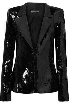 Brandon Maxwell Women Blazer on YOOX. The best online selection of Blazers Brandon Maxwell. Urban Fashion, Mens Fashion, Fashion Outfits, High Fashion, Winter Fashion, Brandon Maxwell, Jackett, Black Blazers, Black Sequins