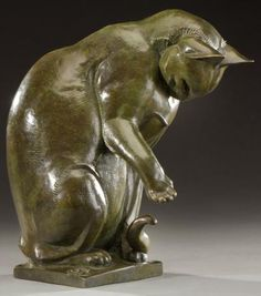 SIRIO TOFANARI Sculpture en bronze à patine verte nuancée brun figurant - vente aux enchères 13/02/2013