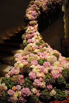 Floral banister by Javier Salvador of By Appointment Only Design...wow!