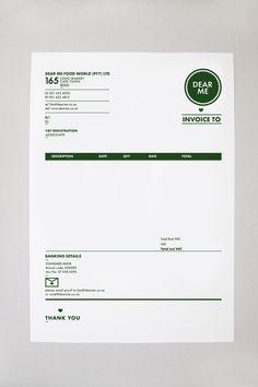Dear Me Brasserie brand identity, by Daniel Ting Chong