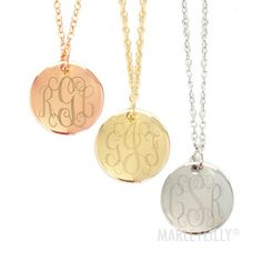 Gold Monogram Necklace | Marleylilly
