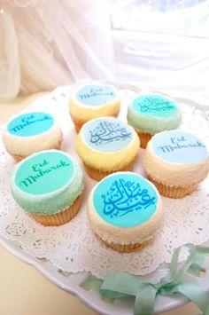 #Eid Mubarak Cupcakes. Eid Crafts, Ramadan Crafts, Ramadan Decorations, Eid Cupcakes, Cupcake Cakes, Eid Hampers, Eid Pics, Eid Mubarik, Islamic Celebrations