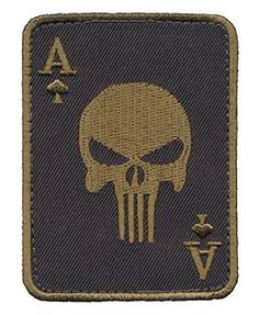 Patch Squad Men's Green Ace of Spade Death Dead Man's Hand Morale Patch