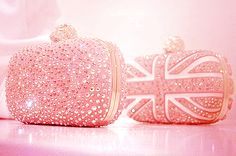 Pink Union Jack clutch - Alexander McQueen