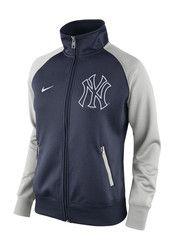 Nike New York Yankees Womens Track Jacket 1.5 Navy Blue Track Jacket