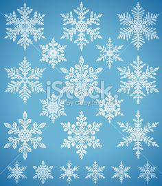 Snowflakes Ilustracja wektorowe grafika royalty-free