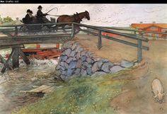 Carl Larsson The Bridge watercolor 1897*