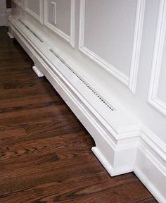 Replace your old metal radiator covers with brand new, custom wood baseboard covers by calling Bergen County's top carpenters, GNG Contracting. We match these wood heater covers with your existing wood trim for a smooth transition. Baseboard Radiator, Baseboard Heater Covers, Wood Baseboard, Baseboard Styles, Baseboard Heating, Baseboard Molding, Baseboard Ideas, Moulding, Modern Baseboards