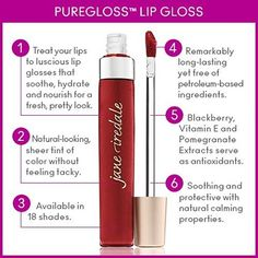 Sometimes all a girl needs is a good lip gloss! Try our PureGloss Lip Gloss for the perfect, sheer tint of color. This long-lasting gloss soothes and protects lips thanks to its hydrating blend of good-for-you ingredients such as Avocado & Sunflower Seed Oils and Vitamin E.