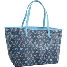 Marc by Marc Jacobs - Eazy Tote (Indigo Multi) - Bags and Luggage, $228.00 | www.findbuy.co #MarcbyMarcJacobs