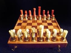 Cool vintage brass and Bakelite chess