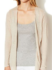 Linen Open Front Cardigan by London LAtelier at Gilt