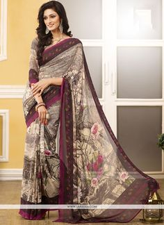 Aspiring to make a mark in the world of style. Here is the attire to breath life into your aspirations. Add a vibrant burst of color to your wardrobe with this multi colour georgette casual saree. The...