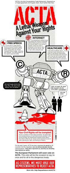 #Infographie #ACTA, Lethal Weapon Against your Rights!