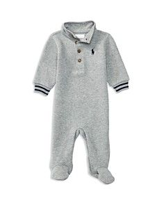 Ralph Lauren Childrenswear Infant Boys' French Ribbed Footie - Sizes 3-9 Months