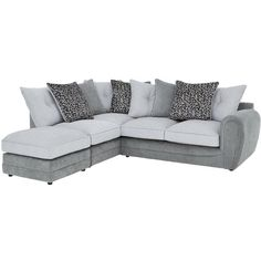 Mosaic Rh Corner Chaise With Footstool ($2,185) ❤ liked on Polyvore featuring home, furniture, chairs, accent chairs and mosaic furniture