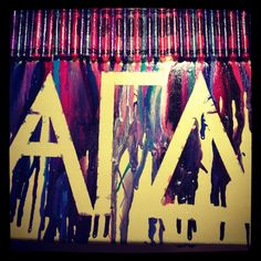 Crayon Art!  Alpha Gamma Delta, I want to do white background, and all RED, BUFF, and GREEN crayons