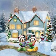 """♥ Thomas Kinkade """"Disney"""" ♥ ...Re-pinned I am not responsible for any spam attached to the photo click at your own risk."""