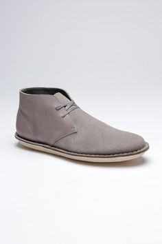 d933e20be5 Grey Suede  amp  Leather Chukkas   Prajaa Chukka Shoes