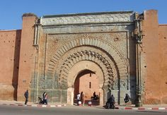 Bab Agnaou (Arabic باب اكناو) is one of the nineteen gates of Marrakech, Morocco. It was built in the 12th century in the time of the Almohad dynasty.    The name Agnaou, like Gnaoua, in Berber refers to black people (cf. Akal-n-iguinawen - land of the black). The gate was called Bab al Kohl (also referring to black people) or Bab al Qsar (palace gate) in some historical sources.