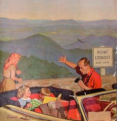 Marmont Hill Lookout Point Richard Sargent Painting Print on Canvas 48 x 48 Home Decor Wall Decor Paintings and Prints Canvas Art Prints, Painting Prints, Paintings, Sargent Art, Saturday Evening Post, Norman Rockwell, Lectures, The Good Old Days, Vintage Art
