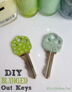 Fun Crafts To Do With Nail Polish | Best Nail Polish Crafts | DIY Projects and Arts and Crafts Ideas Using Nail Polish | Blinged Out Keys http://www.thrillbites.com/amazing-nail-polish-craft-ideas